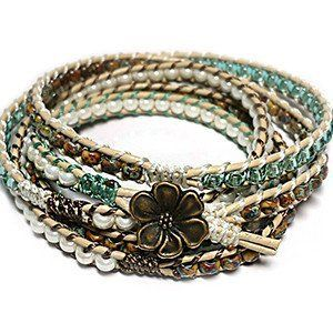 Free Wrap Bracelet Project | Tricks to Laddering- Sage – Beadshop.com - bridal jewellery, costume jewelry wholesale, handmade jewellery uk *ad