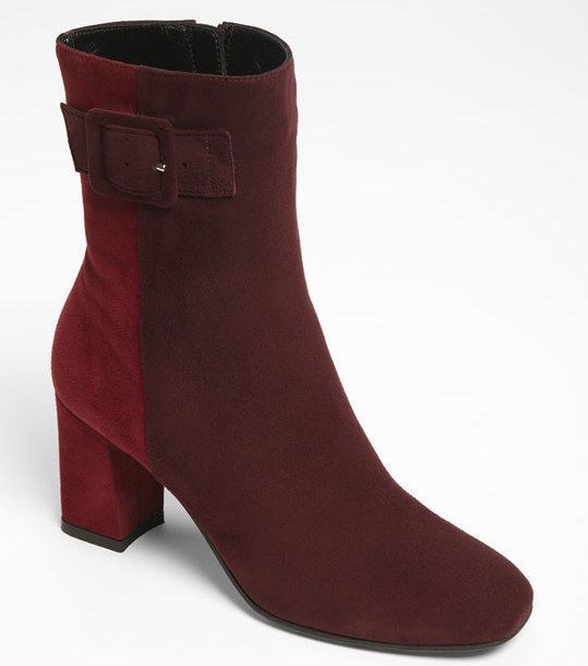 Aquatalia Marvin K Quaint Weatherproof Ankle Boot red purple Suede size 6 $475