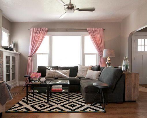 Black Corner Sofa In Small Clean Living Room Design  Living Room Classy Clean Living Room 2018