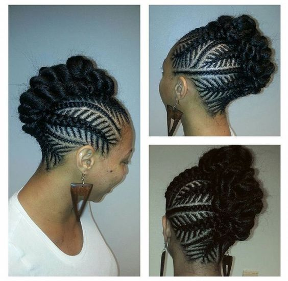 Typh S Braids1 More Braided Mohawk Hairstyles Natural Hair Styles Cornrow Hairstyles