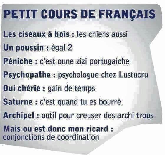 Petit cours de français  457ed3855eb2bf04d3b7bcf89101acd0