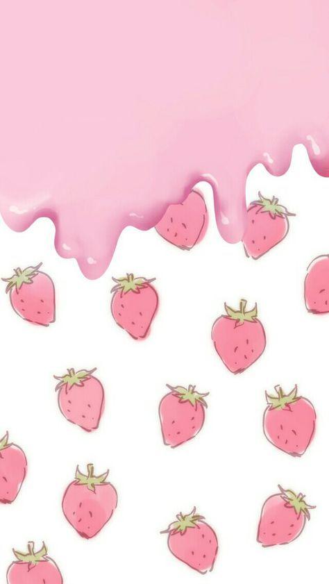 Kawaii Wallpaper Backgrounds Tumblr Hello Kitty 65 Ideas Pink Wallpaper Iphone Wallpaper Iphone Cute Wallpaper Phone Cute Beautiful kawaii strawberry wallpaper