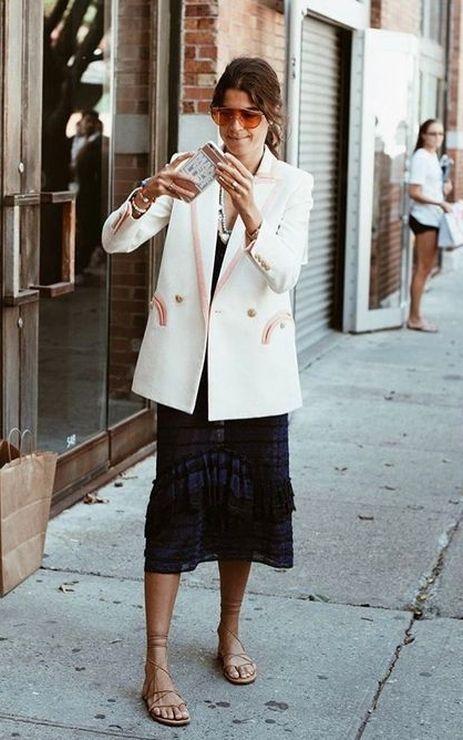 """O Look """"mulher de negócios"""" dos anos 80 em voga - Moda que Rima"""