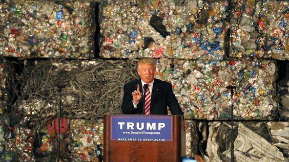 Wirtschaftsthesen für die Tonne: Trumps Müll-Rede