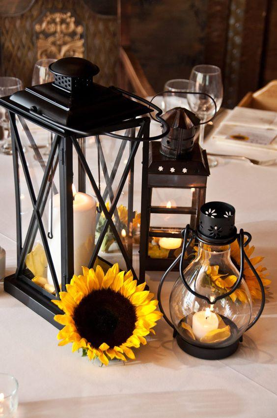 Wedding sunflower centerpieces and flower on pinterest