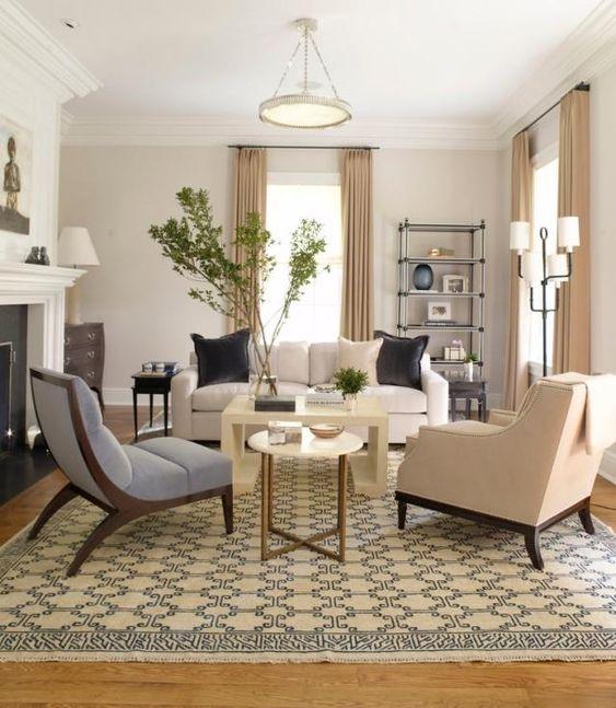 wohnzimmer-gestalten-neutrale-farben-sitzbereich Wohnideen - wohnideen wohnzimmer farben