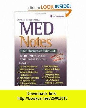 MedNotes a Nurses Pocket Pharmacology Guide (9780803611092) Judith Hopfer Deglin, April Hazard Vallerand , ISBN-10: 0803611099  , ISBN-13: 978-0803611092 ,  , tutorials , pdf , ebook , torrent , downloads , rapidshare , filesonic , hotfile , megaupload , fileserve