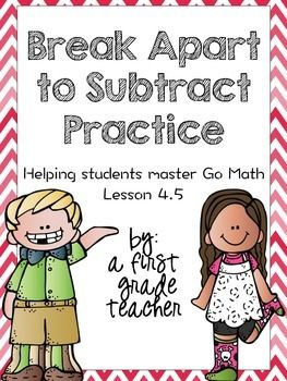 math worksheet : break apart to subtract practice worksheets  go math math  : Go Math Worksheets