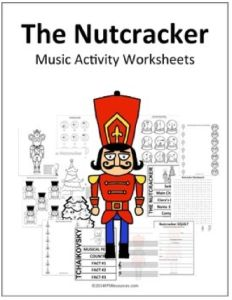 Jennifer Foxx of Music Educator Resources, put together this wonderful collection of The Nutcracker activity worksheets for Pre-K – 6th grade students. The 13 music activity worksheets in thi…