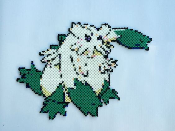 Abomasnow Pokemon Perler Sprite by TalkNerdytoMePerler on Etsy