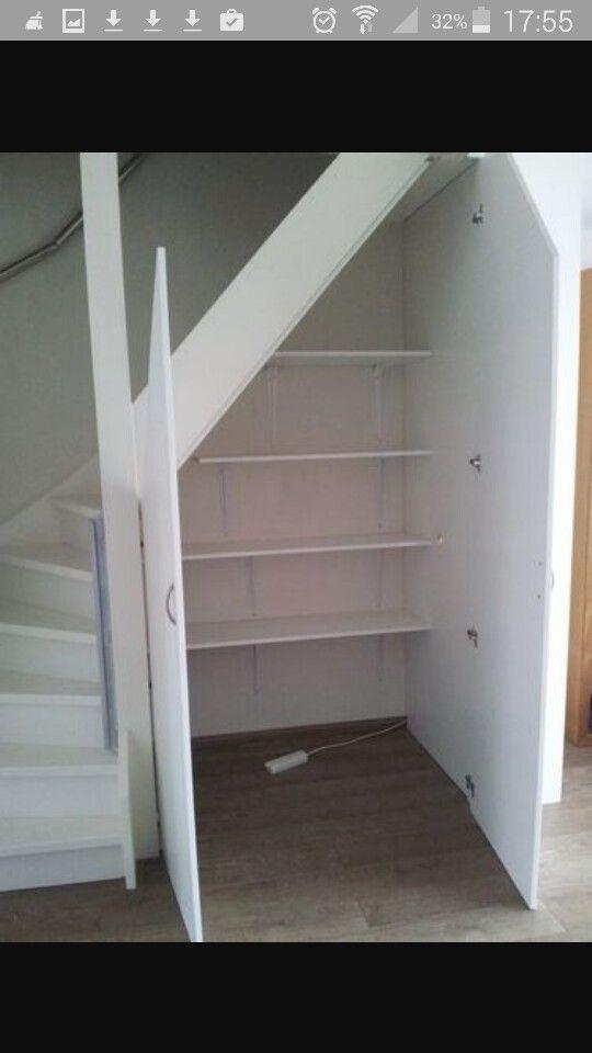 Trapkast: twee deuren ipv een. Zo kun je tenminste overal bij!