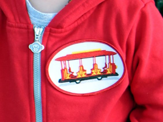 Daniel Tiger's Neighborhood Trolley Red Zip-Up by fruitpants