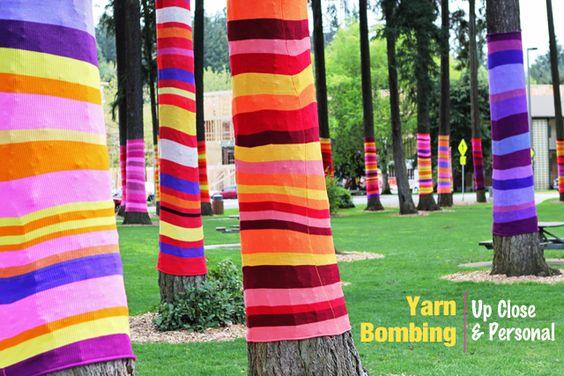 Modern Parents Messy Kids: Yarn Bombing!