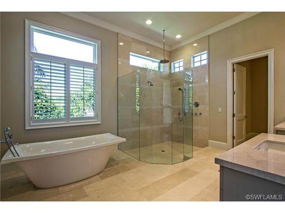 bathroom stand alone tub glass walk - Stand Alone Tub