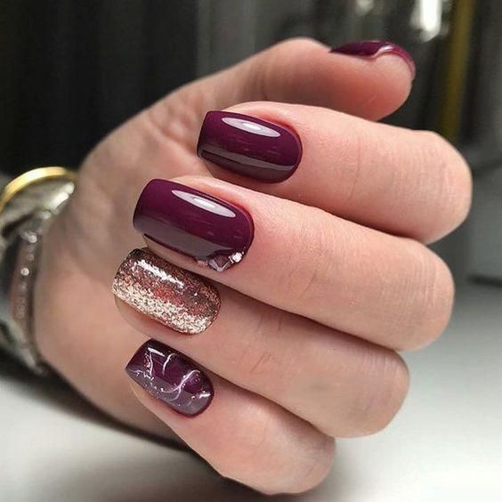 55 Trendy Manicure Ideas In Fall Nail Colors Burgundy Nails Fall Gel Nails Red Acrylic Nails