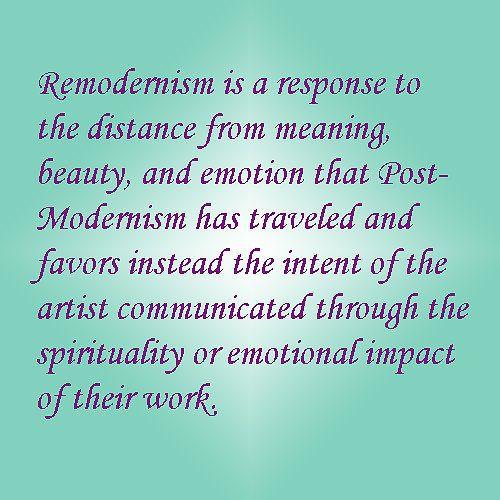 My Remodernism 'elevator speech'