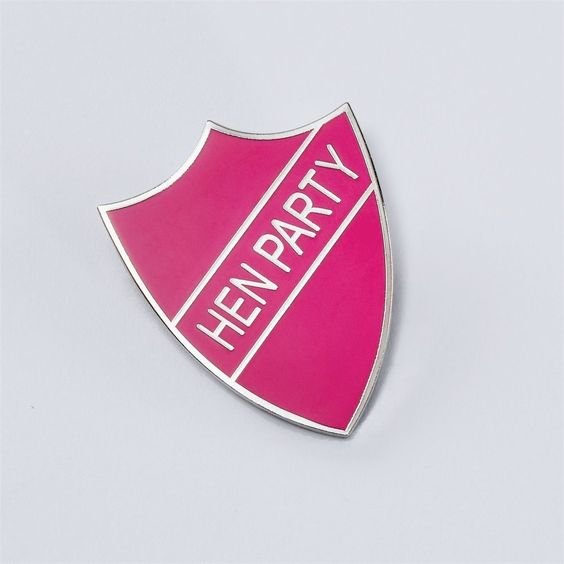 Pink Hen Night School Badge - Party Prefect Dressing Up