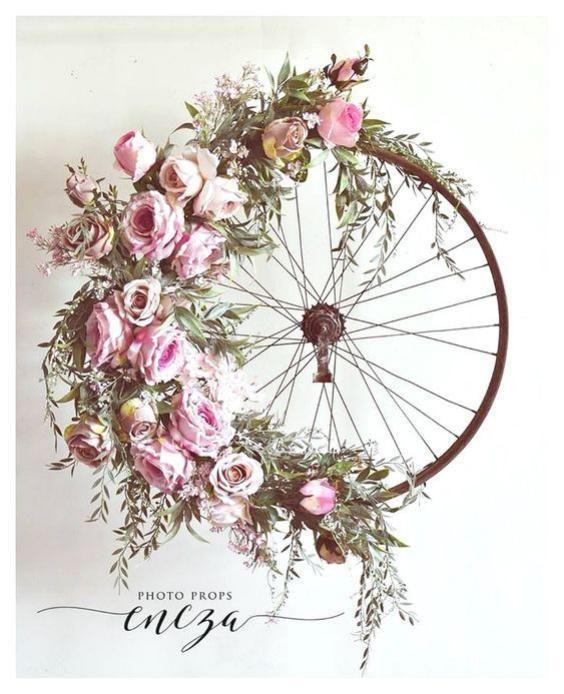 Bonitas decoraciones con llantas de bicicleta | Tarjetas Imprimibles