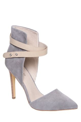 Joe's Jeans - Laney High Heel Cuffed Pointed Toe Ankle Strap ...