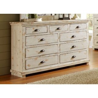willow distressed white drawer dresser furniture outlet shopping and beauty. Black Bedroom Furniture Sets. Home Design Ideas
