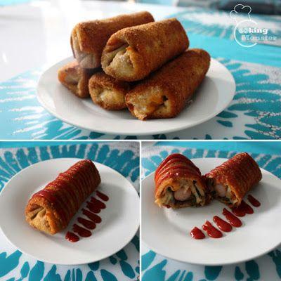 Cooking Monster: Krokiety z pikantnym farszem i parówką