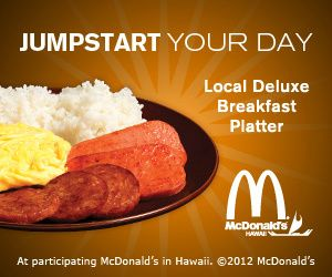 McDonald's Hawaii features a Local Deluxe Breakfast Platter with ...