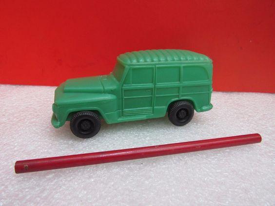 mimo - antigo carrinho de plástico soprado - rural willys