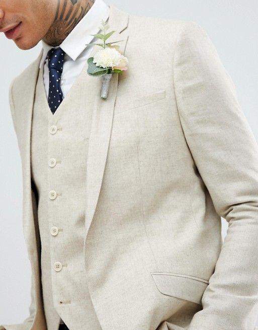 Heart & Dagger skinny suit jacket in linen | ASOS