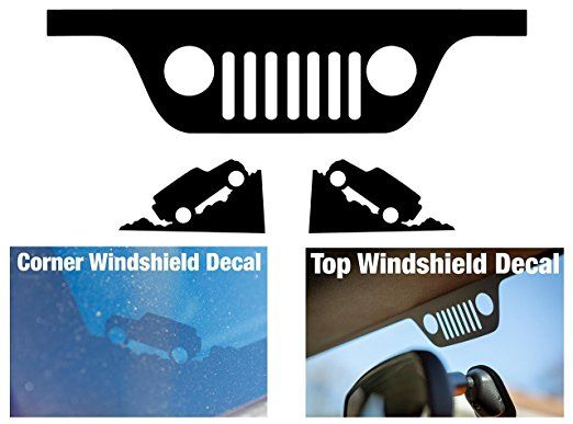 Jeep Wrangler Jk Windshield Replacement Decals Grill And Corner