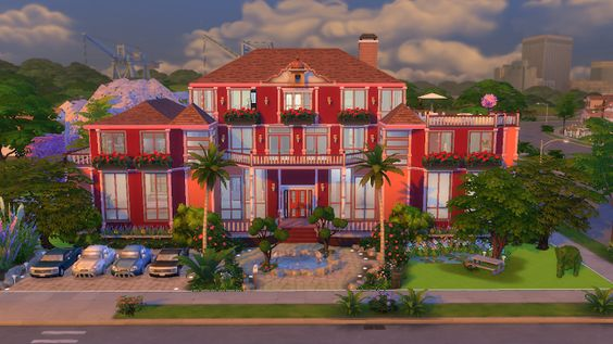 Sims4 Shots: Wild Berry Mansion  Sims4 Houses