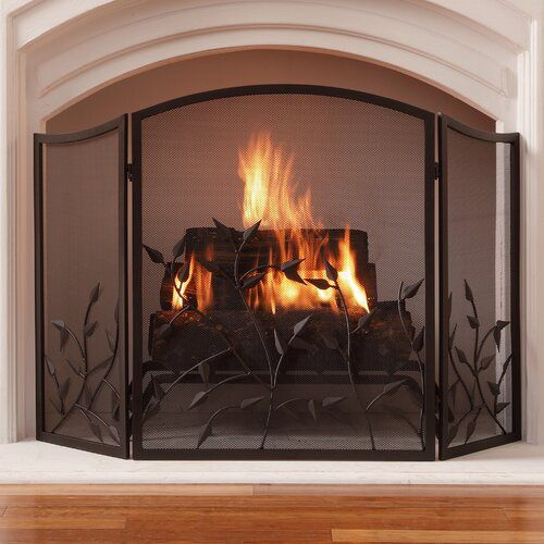 Waverly 3 Panel Steel Fireplace Screen With Images Fireplace