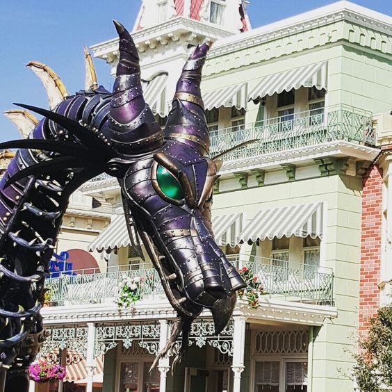 Festival of Fantasy Maleficent Dragon float at Magic Kingdom. Photo by Lisa Baxter