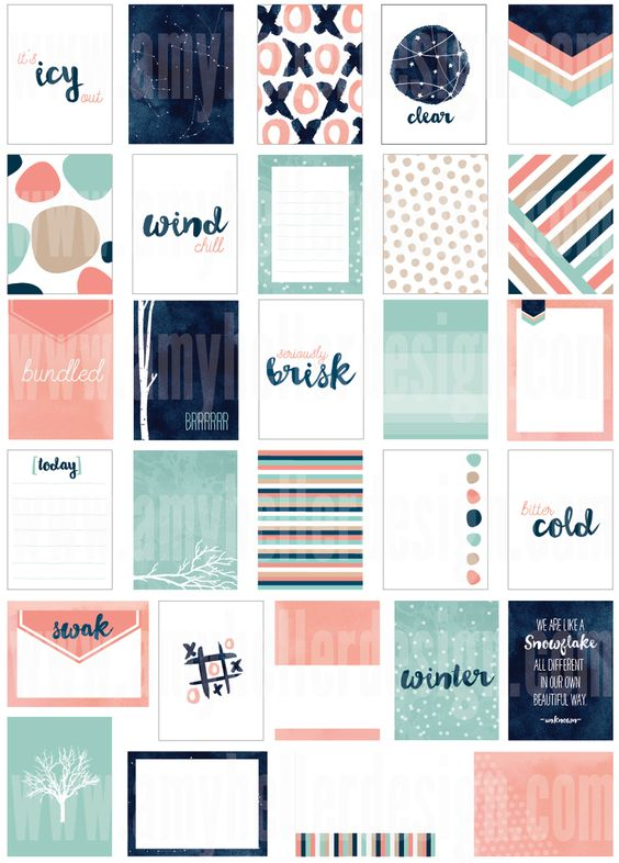 FREE {limited time} Winter Solstice Journal Cards from Amy Heller Designs {on Facebook}