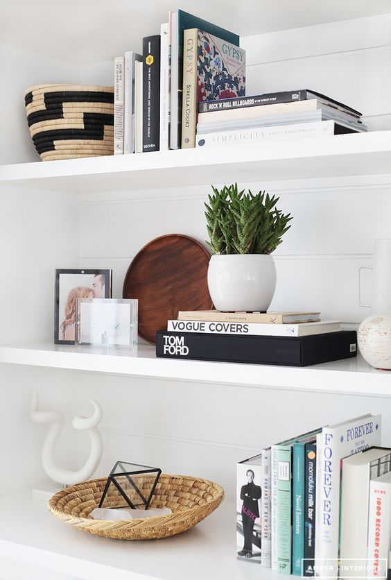 shelf styling: