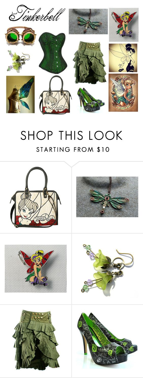 """""""Tinkerbell"""" by mangerlecole ❤ liked on Polyvore featuring Disney and Iron Fist"""