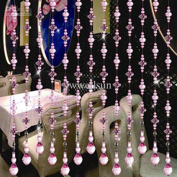 Handmade acrylic doorway bead curtains - I so WANT!! | abcd ...