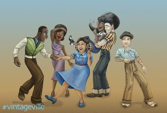 #vintageville is coming back, hopefully next week. I've been working on story sketches . Cheer me on! #illustration #cartooning #comics