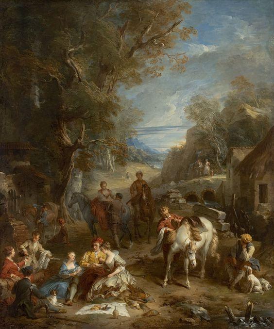 François Lemoyne, Piquenique durante a caçada, 1723, MASP, São Paulo
