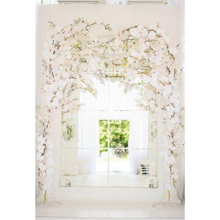 Hellodecor Polyster 5x7ft Wedding Backdrop Romantic Flowers Indoor Decoration Photography Background Fun Wedding Photography Wedding Photography Spring Wedding Backdrop studio indoor background hd