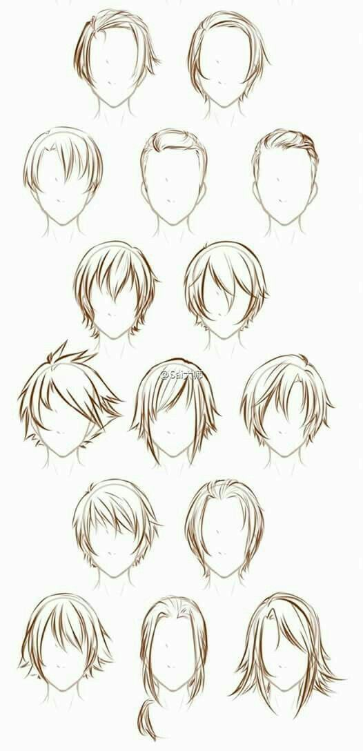 Male Hairstyle References Drawing Male Hair Anime Drawings Tutorials How To Draw Hair