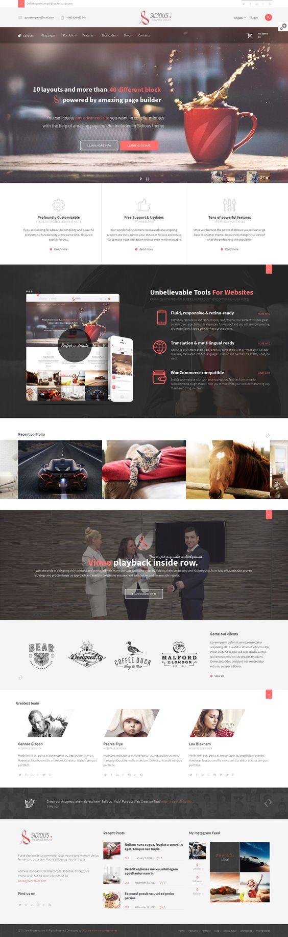 Sidious - Multi-Purpose Web Creation Tool http://themeforest.net/item/sidious-multipurpose-web-creation-tool/6526949?ref=wpaw #web #creative #design