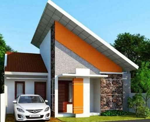 Rumah Minimalis Atap Miring Cara Golden