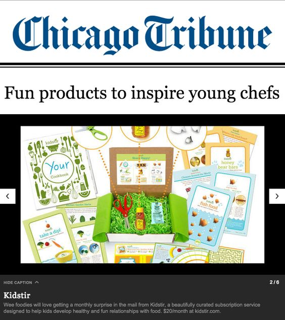Chicago Tribune included us in their list of products to inspire young chefs!