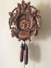 Unusual Cuckoo Clocks german black forest 8 day cuckoo clock unusual wreath with oak