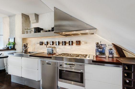 Virlova Interiorismo: [Home] Ático de soltero en tan sólo 40 m² en rústico chic
