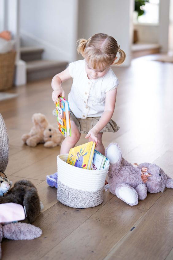 NO-STRESS STORAGE FOR EVERY ROOM IN THE HOUSE – You'll love how much stuff you can fit inside our stunning woven storage baskets! This two-piece set includes one 22 inch and one 12 inch woven basket – great as a small or large plant holder, for kids' toys, dirty laundry, towels, pillows, stuffed animal storage and more!