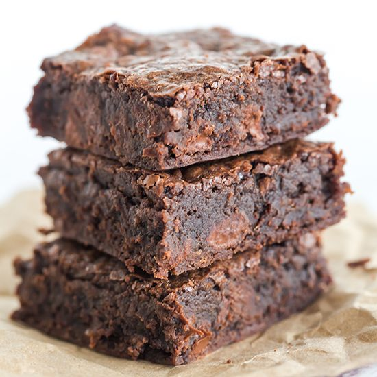These homemade brownies have all of the great texture and flavor of box-mix brownies, without any of the processed ingredients.: