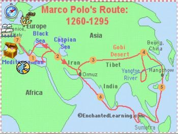 Marco Polo Trivia Game Flipchart School Ideas History - Simple map of asia for kids