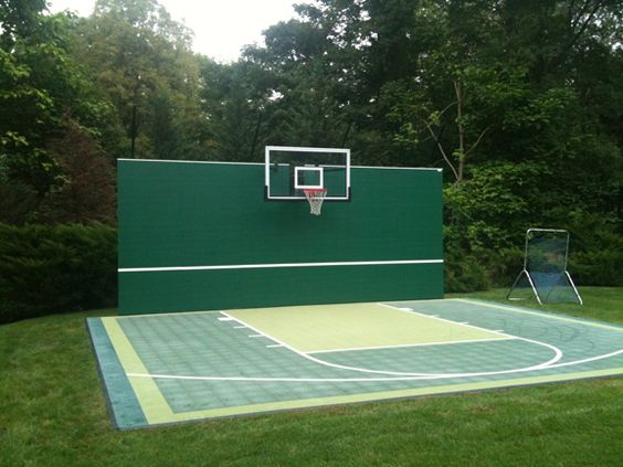 Diy handball court google search handball court for Basketball court at home