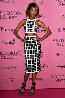 Jourdan Dunn at the Victoria's Secret Fashion show on December 2, 2014 in London, England